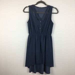 Soprano Chambray High Low dress. Medium